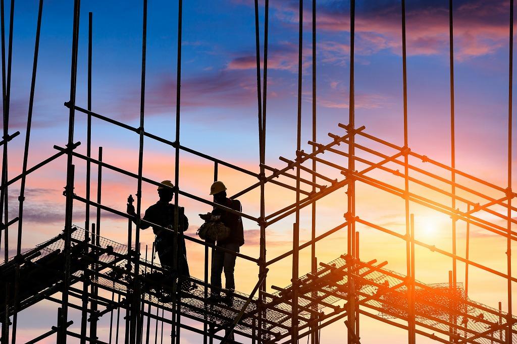 新築工事の足場を組み立てるときに注意すること